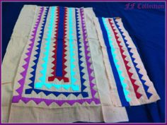 Hand Made Applique Neckline With Sleeves Border. Price : 15 US $