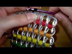 How to crochet soda tab clutch purse ( vid. 1) Subtítulos en español - Yolanda Soto Lopez - YouTube