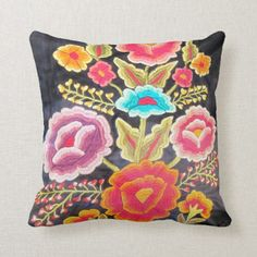 Shop Mexican Embroidery design Throw Pillow created by beautyofmexico. Personalize it with photos & text or purchase as is! Herb Embroidery, Mexican Embroidery, Embroidery Designs, Pillow Room, Decorative Pillow Cases, Designer Pillow, Custom Pillows, Throw Pillow Covers, Tapestry