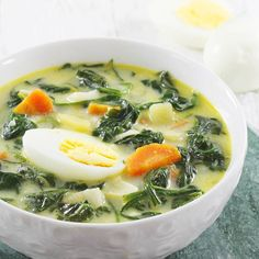 Zupy in 2020 Fruit Recipes, Soup Recipes, Cooking Recipes, Healthy Recipes, Spinach Soup, Yummy Snacks, Healthy Cooking, Food Inspiration, Good Food