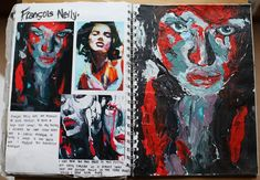 Artist research Francois Neily - painting done with a palet knife, GSCE Art Identity gcse Sketchbook Work Textiles Sketchbook, Gcse Art Sketchbook, A Level Art Sketchbook Layout, Sketchbooks, Arte Gcse, Identity Artists, Artist Research Page, Kunst Portfolio, Billy Kidd