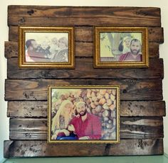 diy distressed vintage wood plank picture frame