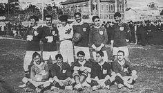1908 A. Costa, H. Costa, Jorge Rodrigues, Cosme Damião, Carlos de Figueiredo e Artur Pereira. Florindo serras, Luís Vieira, Germano de Vasconcelos, Meireles e Virgílio Paula.