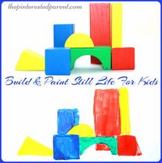 Build & Paint still life art for kids - construct your own still life