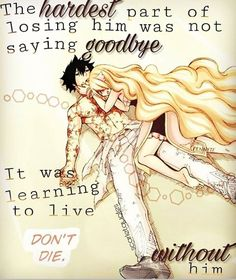 This is so heart breaking considering the fact that Mavis and Zeref died :'(
