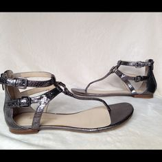 Gladiator Style Flat Sandals by Enzo Angiolini Worn one time flat sandals size 8 super stylist Enzo Angiolini Shoes Sandals