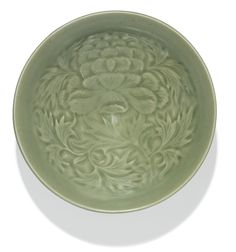 A RARE 'YAOZHOU' 'PEONY' BOWL<br>NORTHERN SONG DYNASTY | lot | Sotheby's