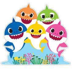 Baby Shark Family Standup Source by Shark Birthday Cakes, Birthday Party Themes, 2nd Birthday, Shark Face Painting, Shark Family, Shark Pictures, Decoration Evenementielle, Baby Shark Doo Doo, Shark Swimming