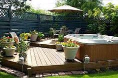 hot tub decking garden - Google Search