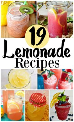 19 Lemonade Recipes,