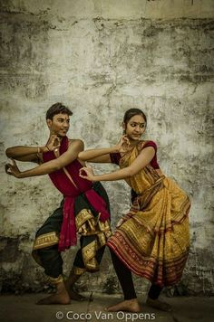 Young Odissi Classical dancers in Pushkar, Rajasthan, India