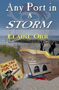 FREE - Mystery in Any Port in a Storm by Elaine Orr  Any Port in a Stormby Elaine Orr $2.99 – FREE Sept 18-20, 2014Jolie Gentil and friends are putting the finishing touches on the Talk Like a Pirate Day fundraiser for the food pantry and trying to figure out who's breaking into some of the houses Jolie appraises. When she realizes a new face in town is leading high school kids into trouble in those houses, Jolie's mad and lets him know it. But Hayd