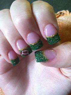 Acrylic Football nails #football #nails #design #acrylic