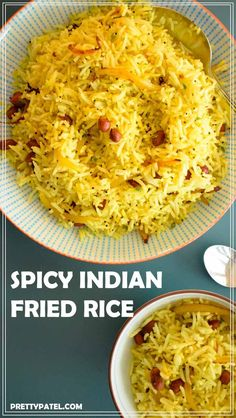 spicy indian fried rice, vagharela bhaat, indian recipe, vegan, gluten free, vegetarian  l www.prettypatel.com