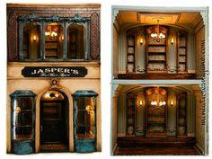 Custom dollhouse mens shop. miniaturesbyjune.com