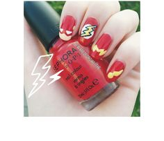DC Comics The Flash Superhero Nails @Luuux - Visit to grab an amazing super hero shirt now on sale!
