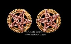 1 PAIR OF PENTA MERIDIA STUD EARRINGS Wicca Witch Pagan Goth Punk ANNE STOKES