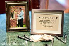 time capsule ... awesome idea!