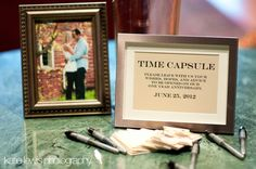 cute idea - time capsule for advice/well wishes. Its like warm fuzzies for after the honeymoon phase!