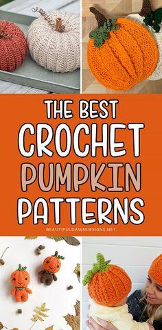 Crochet Pumpkin Pattern, Pumpkin Patterns, Crochet Applique Patterns Free, Pumpkin Applique, Easy Crochet Stitches, Halloween Crochet Patterns, Quick Crochet, Fall Patterns, Knit Patterns