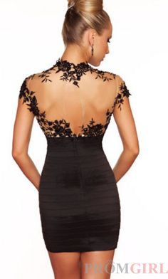 Beautiful black dress with sheer back and lace details