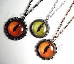 Realistic Lizard Cat Eye Necklace Many Custom by LittleGemGirl