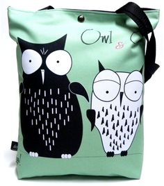 """Bag with snap ,,owl&owl"""" by GaulDesigns on Etsy"""