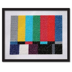 Counted Cross Stitch Pattern PDF. TV Test Screen.. $4.00, via Etsy.