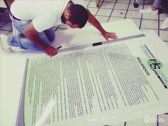 Reglamento impreso en vinil brillante en alta calidad y montado en trovicel para Gimnasio Human Sport #AltaCalidad
