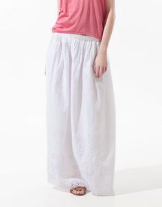 LONG CUT WORK SKIRT - Skirts - Woman - ZARA Netherlands