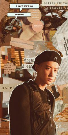 Brown Wallpaper, Locked Wallpaper, Tumblr Wallpaper, Aesthetic Iphone Wallpaper, Aesthetic Wallpapers, Exo Chanyeol, Kpop Exo, Brown Aesthetic, Kpop Aesthetic