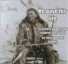 Twenty U.S. soldiers received Medals of Honor for their actions in the Wounded Knee massacre. Trying to correct history, Native Americans want the medals rescinded.  http://www.fold3.com/page/1299_lakotawounded_knee_a_campaign_to/