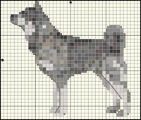 Jämthund Hama Beads Patterns, Beading Patterns, Cross Stitch Charts, Cross Stitch Patterns, Dog Crafts, Hand Embroidery Stitches, Beaded Animals, Bargello, C2c