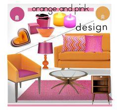 """Pink Orange Home Design"" by chinnok-design on Polyvore"