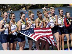GOLD: WOMEN'S ROWING TEAM Who: Amanda Elmore, Tessa Gobbo, Elle Logan, Meghan Musnicki, Amanda Polk, Emily Regan, Lauren Schmetterling, Kerry Simmonds and Katelin Snyder