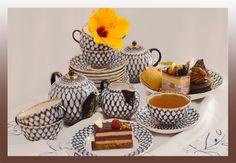 Ekaterina's Imperial Porcelain &Tea. WIN LOMONOSOV 'COBALT NET' TEA SET!!!