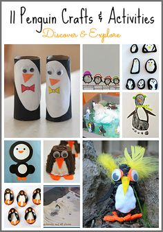 11 Penguin Crafts & Activities combined with Pixel Play Apps: Preschool Penguin App for educational videos and games = fun! Www.pixelplayapps.com