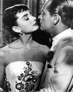 """Audrey Hepburn, William Holden in """"Sabrina"""" (1954). COUNTRY: United States. DIRECTOR: Billy Wilder."""