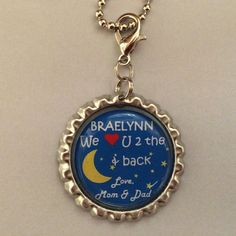 I Love You To The Moon and Back necklace by Fun1Fancy on Etsy