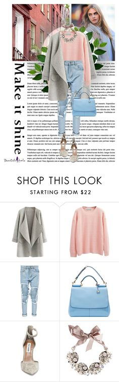"""Make it shine BH6"" by sabinakopic ❤ liked on Polyvore featuring moda, Boohoo, Dolce&Gabbana, Steve Madden e Gabriele Frantzen"