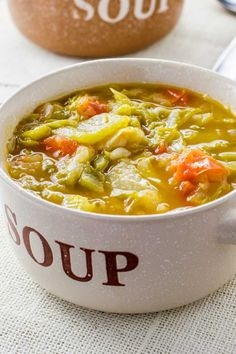 Tasty stove top soup for a diet.