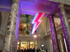 Entrance Iconic Lightening Bolt - Bowie Exhibition London V & A  Museum