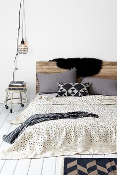 Starry Patchwork Kantha Bed Blanket
