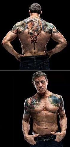 Tattoo design used for Bullet In The Head, Sylvester Stallone Sylvester Stallone, Tattoo Henna, Foto Portrait, Skin Art, Back Tattoo, Tattoos For Guys, Sleeve Tattoos For Men, Tatoos Men, Body Art Tattoos