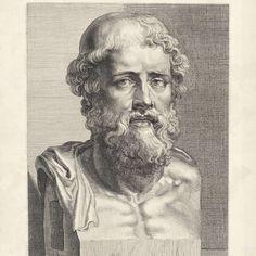 Buste van Demosthenes, Hans Witdoeck, after Peter Paul Rubens, Anonymous, 1638 - Rijksmuseum