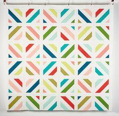 Kona Cotton Fabric & Amy Gibson Cozy Throw Pattern Quilt Kit - White
