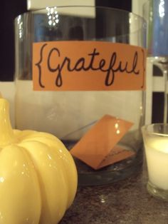 Giving Thanks: A Thanksgiving family activity from Balancing Home. A great family tradition.