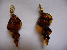 Bead Pendant tortoise shell glass swirl different by darlamarie23, $2.30