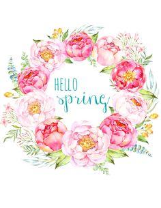 Free Printable Spring Peony Art & Easter Art - The Happy Housie