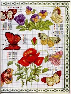 Мобильный LiveInternet вышиваем бабочек крестом | Байкалочка_10 - Дневник…